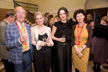 Fleabag's Jenny Rainsford and Phoebe Waller-Bridge (centre) with the BPG's David Wigg and Maureen Paton