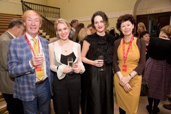Fleabag's Jenny Rainsford and Phoebe Waller-Bridge (centre) with the BPG's David Wigg and Maureen Paton