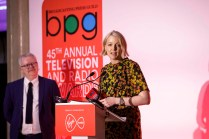 Lauren Laverne collects Radio Broadcaster of the Year