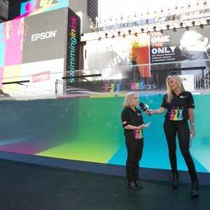 Live Video Production Swimming in Ink Times Square