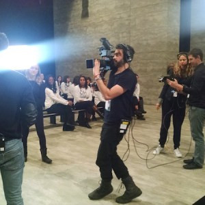 Live Video Production Interview Lincoln Center NY Fashion Week