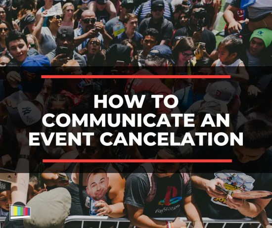 How to Communicate an Event Cancelation