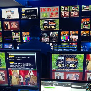 Live Production Monitor Wall