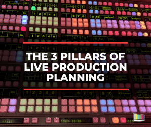 live production, live production planning, live production prep