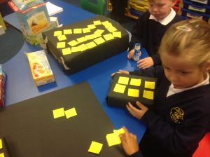 Using our counting skills to create a maths display