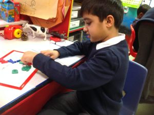 Siyaam has been using the conversation station to help him pronounce CVC words