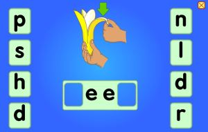 red group phonics game
