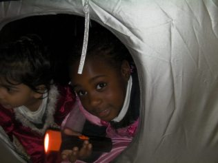 We have been exploring all the different tents around the Nursery.