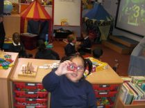We have been finding shapes all over the Nursery!