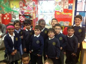 Congratulating our spellers of the week for getting 10 out of 10 in their spelling test!