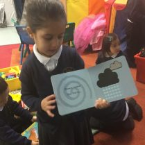 We enjoyed looking at the pictures and telling our friends the story.