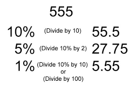 Finding Percentage of an Amount