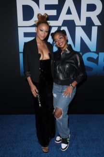 Amandla Stenberg and Marsai Martin attend as Universal Pictures presents the premiere of DEAR EVAN HANSEN at the Walt Disney Concert Hall on Wednesday, September 22, 2021. (Photo: Alex J. Berliner/ABImages)