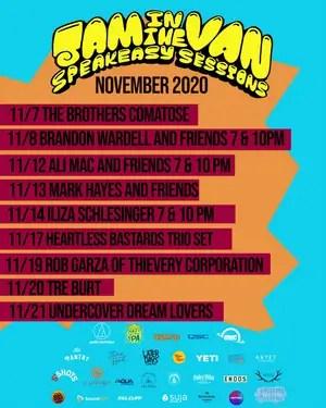 Jam In The Van Announces November Lineup for Speakeasy Sessions