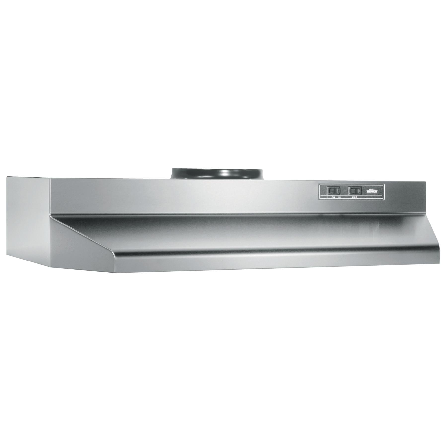 broan 42 inch under cabinet range hood stainless steel