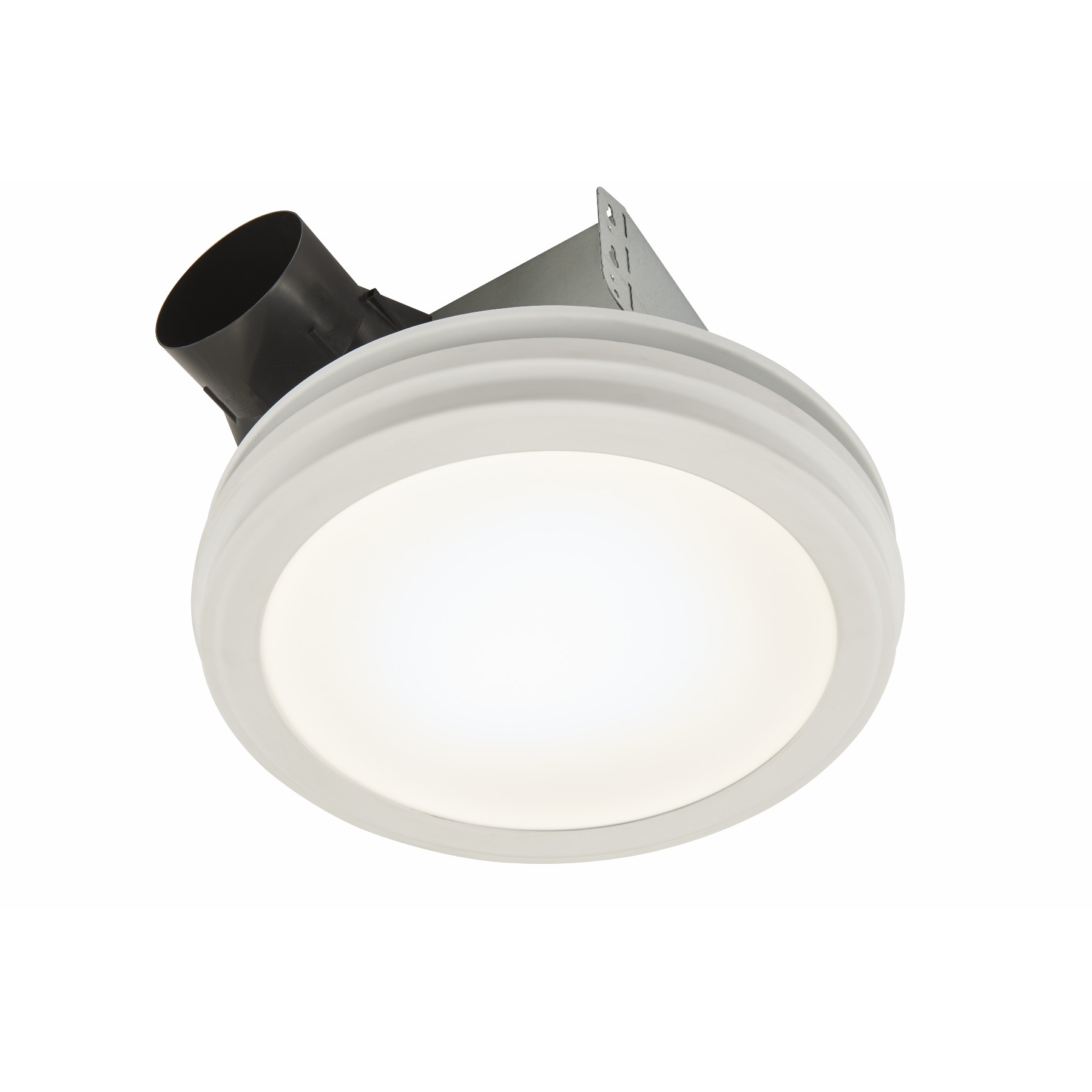 broan 80 cfm bathroom exhaust fan with led light round flat panel