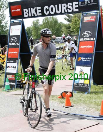 Brock heading out of Transition 1