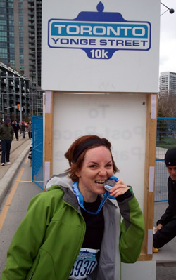Photo of Ellie after the race