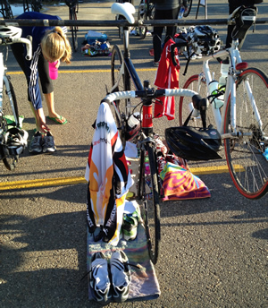 Photo of my bike in transition
