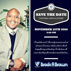 Save The Date:  SBC Pastoral Installation Service