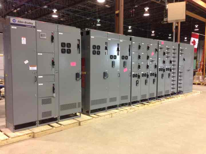 Mccs Consist Of One Or More Cabinet Sections With Power Bus For Mounting Individual Devices