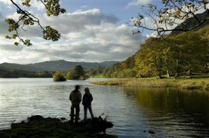 On the shore of Rydal Water