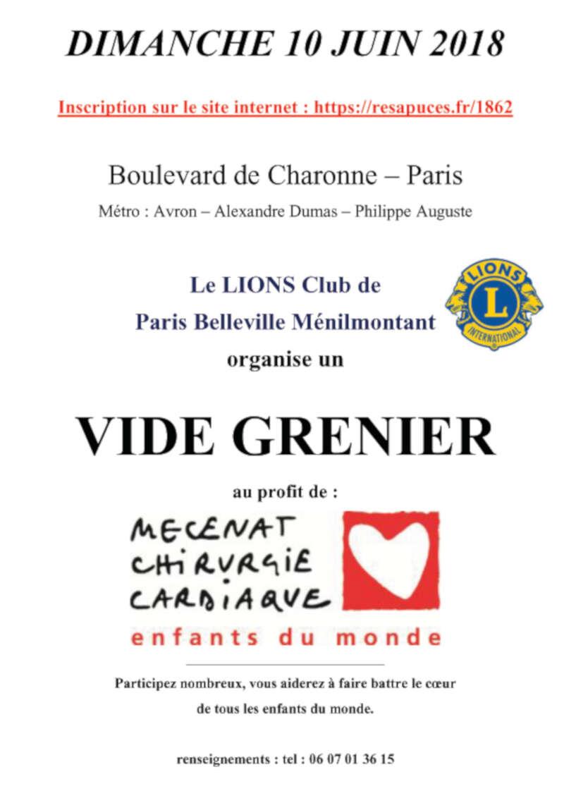 vide grenier boulevard charonne a paris vide greniers 75