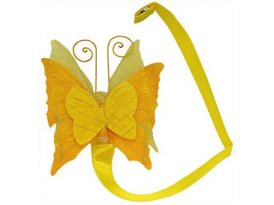 embrasse magnet papillon en papier et mousseline pour relever un rideau