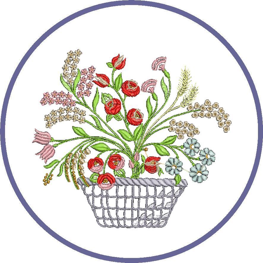 broderie fleurs gratuites