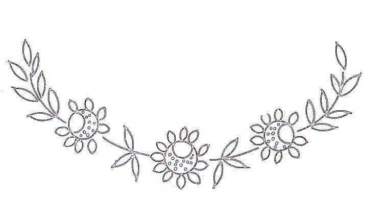 dessin broderie fleur gratuit