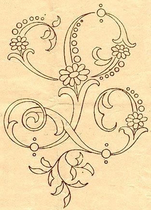 dessin de broderie a la main