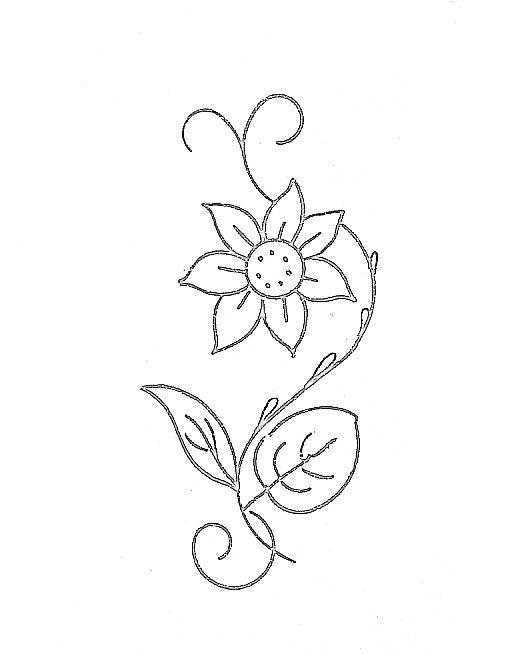fleurs pour broderie