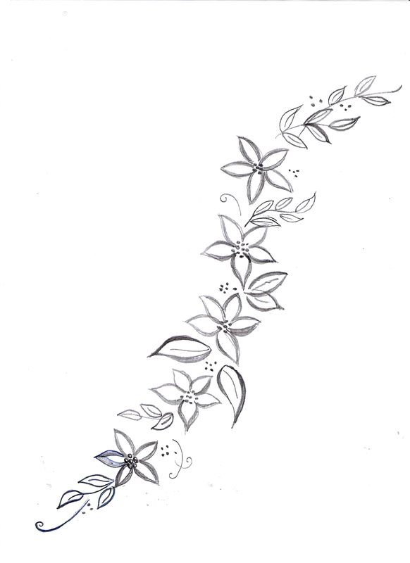 modele de fleur a broder
