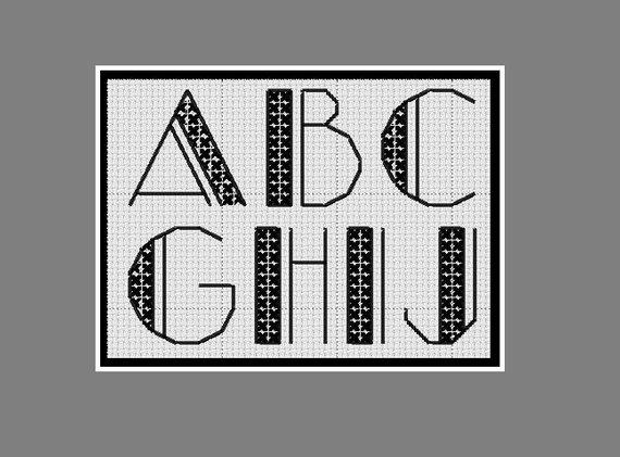 point de croix alphabet
