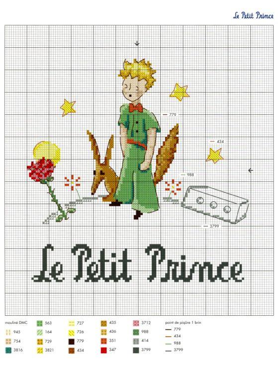 point de croix le petit prince