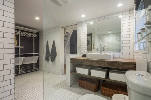 An image of the washroom and dressing room for 61 Shannon St (Loft) in Trinity- Bellwoods Toronto
