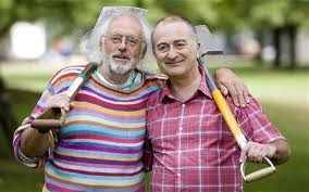 Mick Aston & Tony Robinson-Time Team