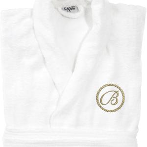 Frottébadrock med monogram på vänster bröst,
