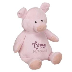 En härlig gris som heter Piggy, med plats för en stor personlig brodyr på magen.