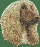 Brodyr hundmotiv Afghan huvud