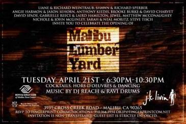 Malibu Lumber Yard - Creative Director - Jeremy Broekman