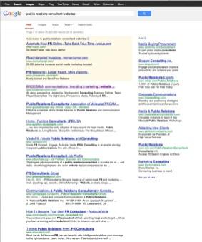 """#1 for """"public relations consultant website"""""""