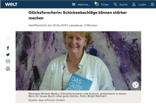 Aktuelles | Prof  Dr  Brohm-Badry I Positive Psychologie I