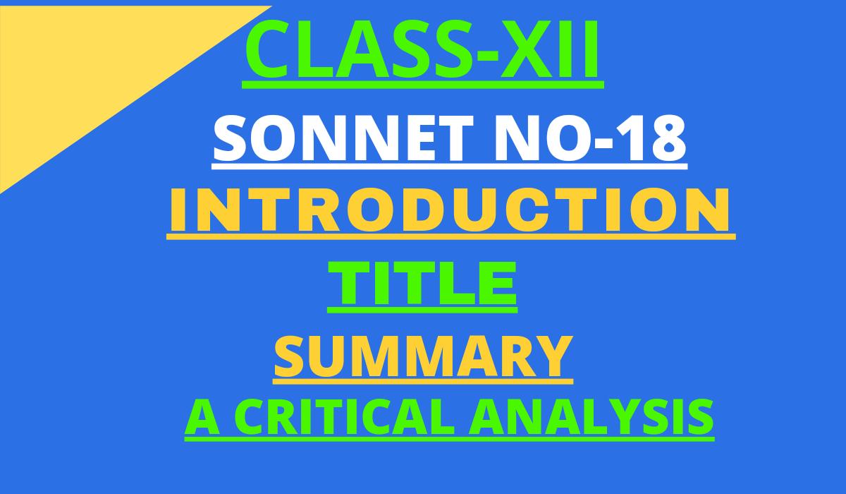 SONNET NO -18