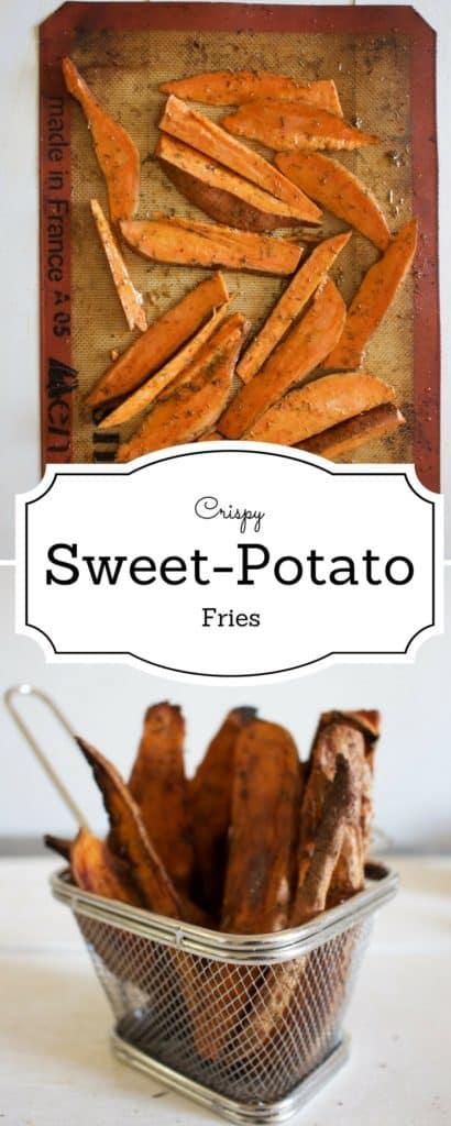 Sweet potato Fries | Crispy and delicious baked sweet potato fries recipe | BrokeFoodies.com