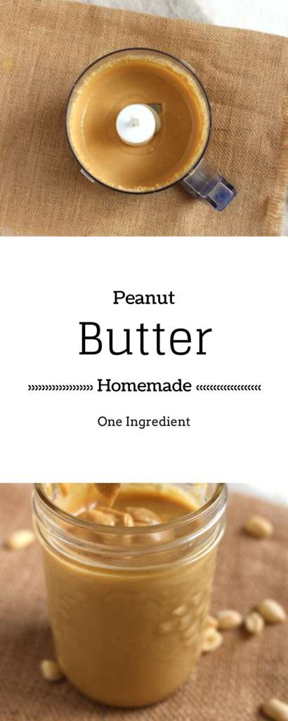 Homemade Peanut Butter - Easy DIY Peanut Butter recipe that requires only one ingredient and is super quick to make.