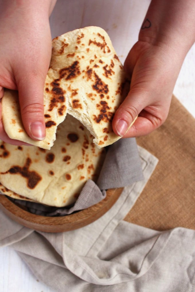 vegan naan bread   Detailed step-by-step guide on how and why to make vegan naan bread   Brokefoodies.com