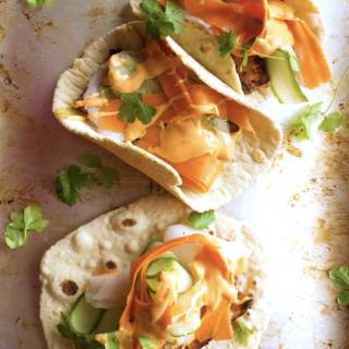 Vegan Banh Mi Tacos – Tacos made with a Vietnamese plant-based twist! Now that's what I call winning. Make these for Cinco de Mayo or any summer day and become the family hero!