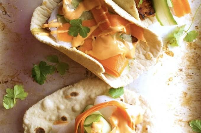 Vegan Banh Mi Tacos