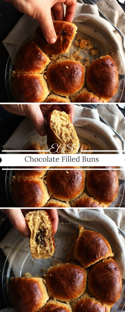 Easy Chocolate Filled Buns – Soft, yummy and a super easy snack/breakfast/dessert straight from my childhood. Check it out!